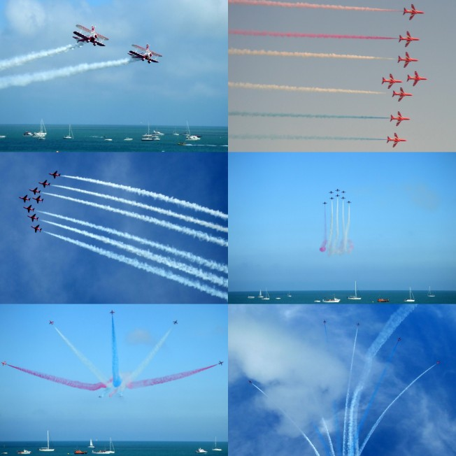 Red Arrows and Wingwalkers