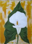 27.06.11 - Lilly - Acrylic on paperboard - 9x12""