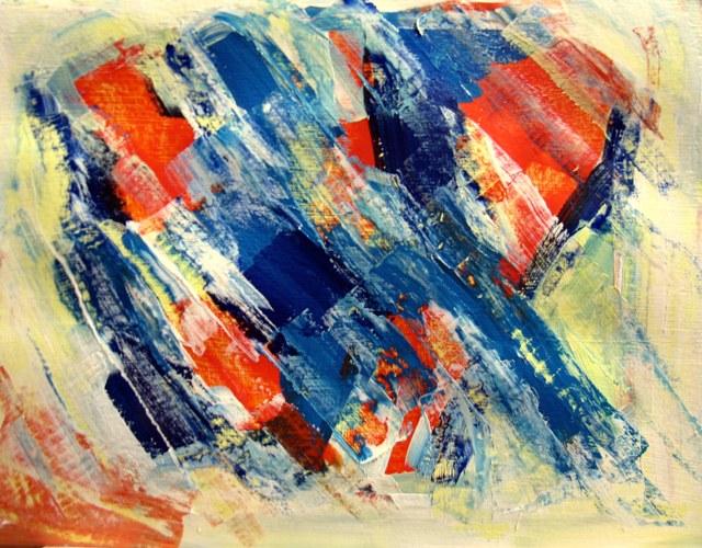 "Acrylic on Paper - 4x6"""