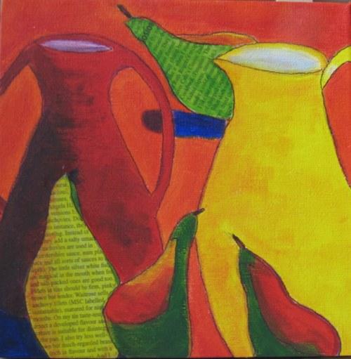 Still life with pears - Acrylic on Canvas - 20 x 20