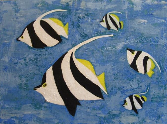 Red Sea Bannerfish - Acrylic on Canvas - 60x45cm