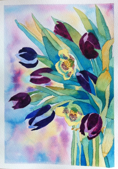 Tulips - A4 - Watercolor on Bockingford