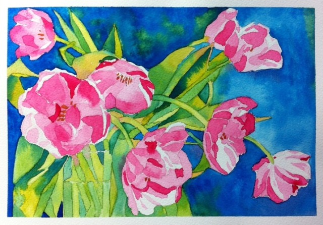 Tulips - Watercolor on Bockingford - A4
