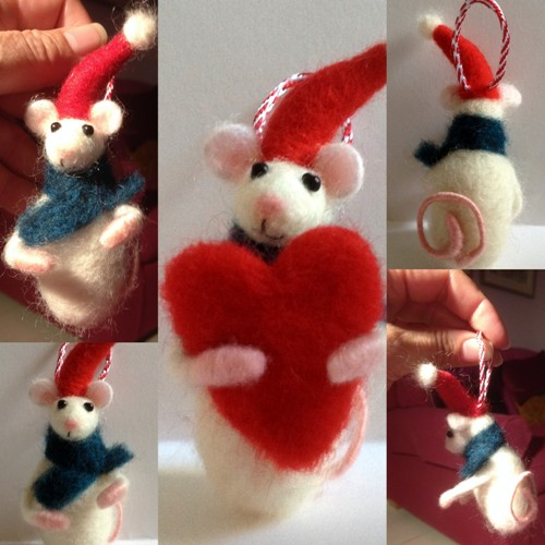 Christmas Mouse.Needle Felting A Christmas Mouse Or Six Arlene S New Beginning